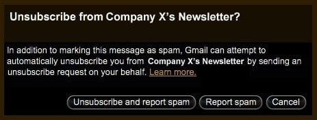 Gmail إلغاء الإشتراك بالمجموعات البريدية