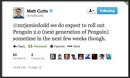 matt-cutts--tweet-penguin