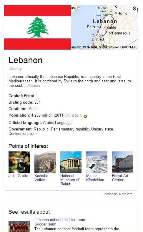 Lebanon - Google NG