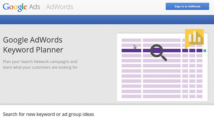 مخطط كلمات البحث الرئيسية جوجل
