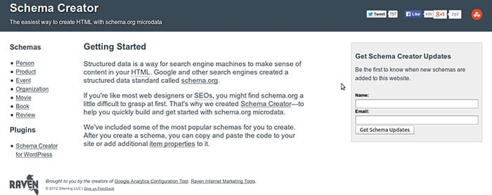 Schema-Creator توليد المقتطفات المنسقة