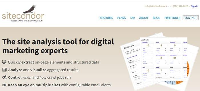 Site-Condor تحليل المواقع