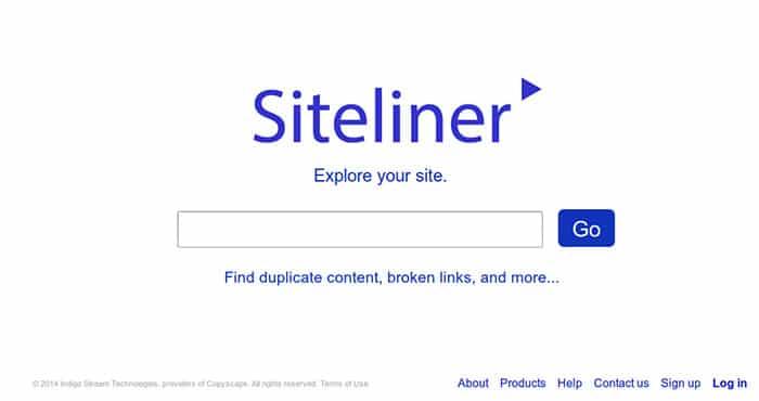 Siteliner فحص المحتوى داخلياً