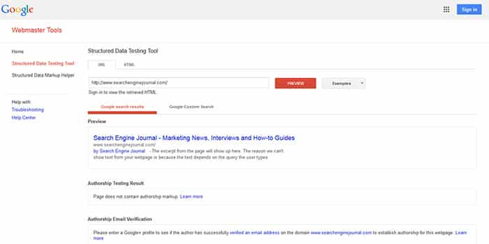 Structured-Data-Testing-Tool-google أداة تجربة المقتطفات المنسقة