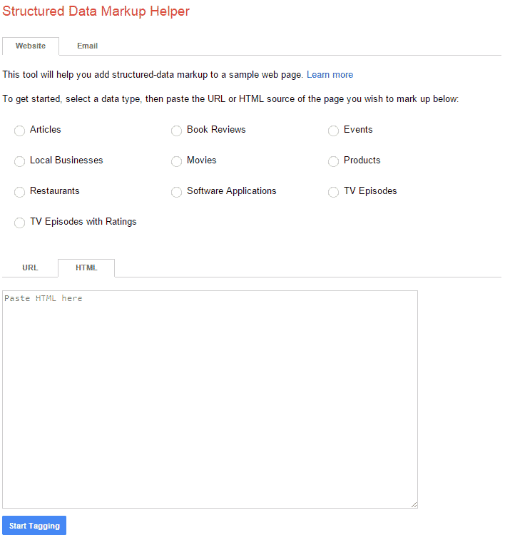 أداة بناء سكيما من جوجل