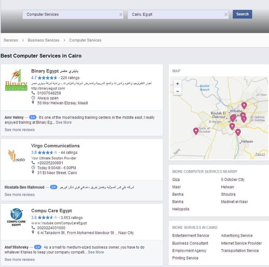 facebook profesional servics