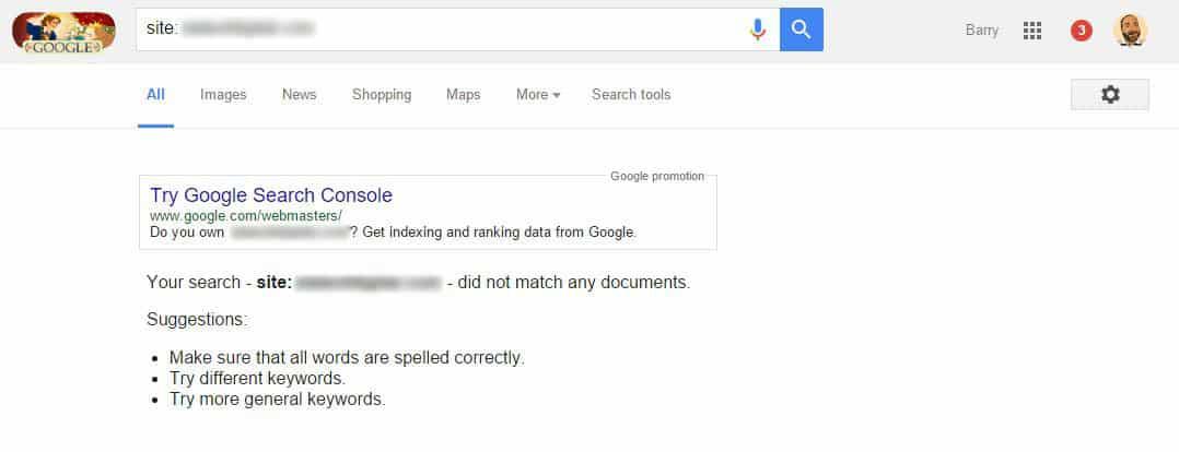 عدم أرشفة الموقع في جوجل