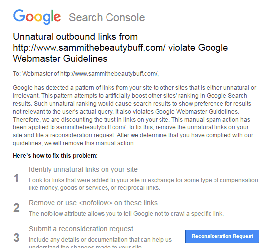 رسائل-عقوبات-جوجل