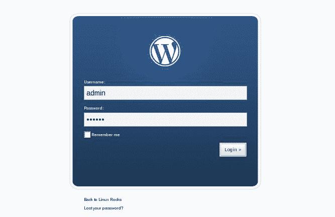 لوحة تسجيل الدخول في ووردبريس