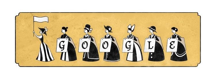 خربشات جوجل: الذكرى 156 للسياسية إميلين بانكيرست