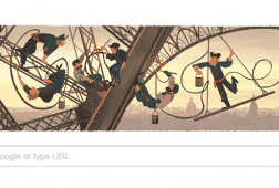 إفتتاح برج إيفل -خربشات جوجل
