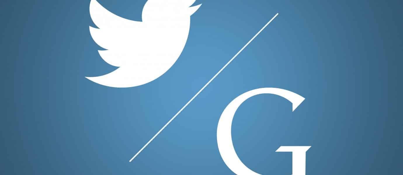 جوجل و تويتر