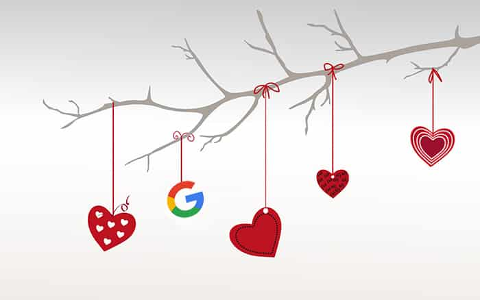 جوجل و عيد الحب