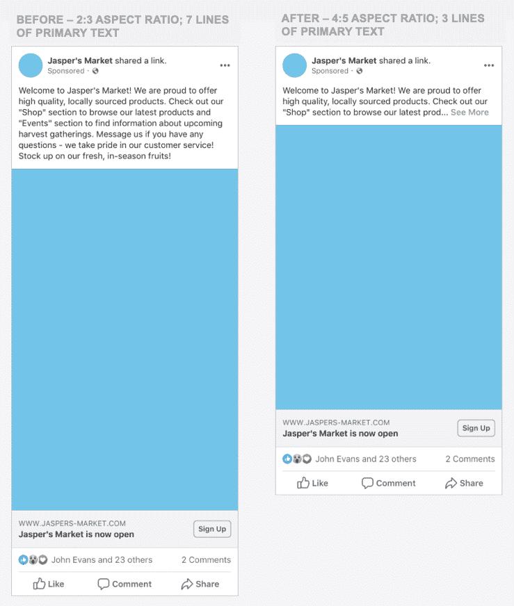 فيس بوك يغير أحجام الصور للمشورات المعروضة خلاصة أخبار نسخة الجوال