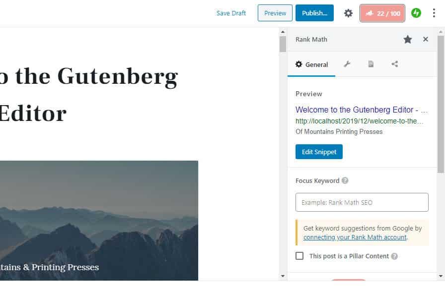 إضافة Rank Math SEO تدعم الآن محرر ووردبريس الجديد