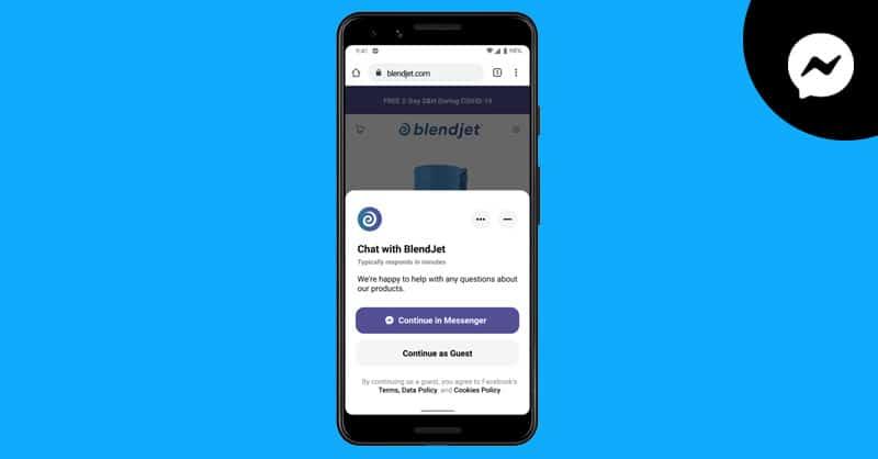 أداة فيس بوك ماسنجر للمواقع تتيح الدردشة بدون تسجيل الدخول